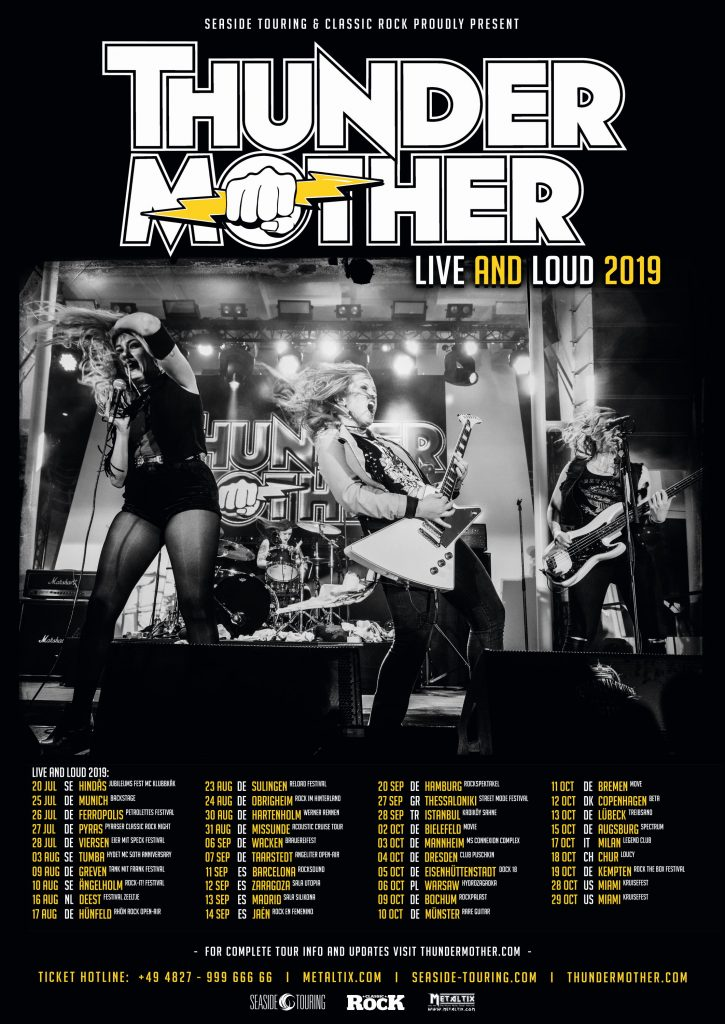 Thundermother Live And Loud 2019 July